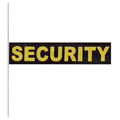 N�ivka SECURITY velk� �ERN� se �lutou nit�