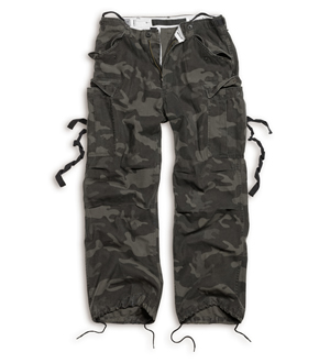 SURPLUS Kalhoty VINTAGE FATIGUE BLACK CAMO