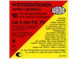 Plynové náboje PV 9mm pistole 10ks Pepper