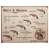 Cedule plechová Smith & Wesson pistol model