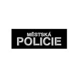 Nášivka MÌSTSKÁ POLICIE malá velcro ÈERNÁ