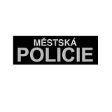 Nášivka MÌSTSKÁ POLICIE velká velcro ÈERNÁ
