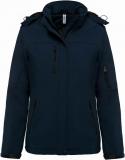 Dámská softshellová bunda Lined Hooded Parka - Navy Modrá