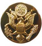 Odznak US ARMY límcový kulatý ZLATÝ