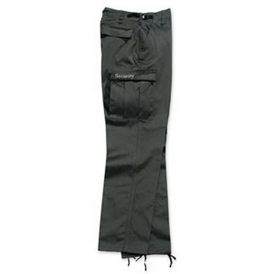Kalhoty SECURITY s nápisem na kapse ÈERNÉ