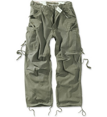 Kalhoty VINTAGE FATIGUE OLIV