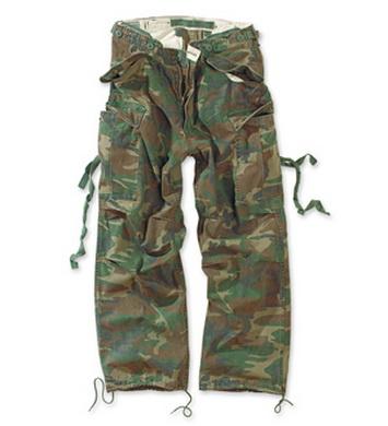 Kalhoty VINTAGE FATIGUE WOODLAND