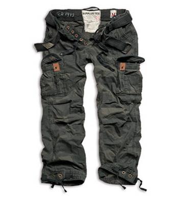 Kalhoty PREMIUM VINTAGE BLACK CAMO
