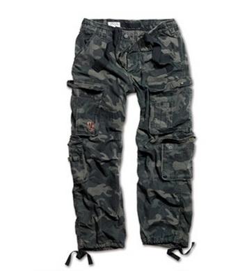 Kalhoty AIRBORNE VINTAGE BLACK CAMO