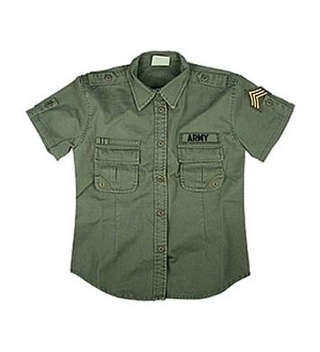 Košile dámská BDU US ARMY VINTAGE OLIV