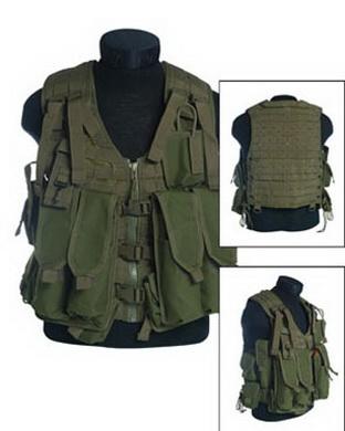 Taktická vesta typ MODULAR SYSTEM 12 kapes pro AK - OLIV