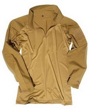 Košile TACTICAL s límeèkem COYOTE