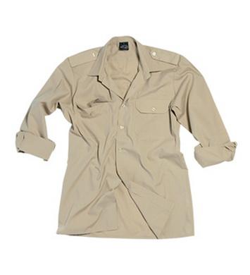 Košile SERVIS dlouhý rukáv na  knoflíky KHAKI
