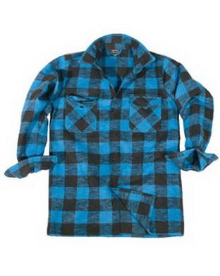 Košile døevorubecká modro èerná