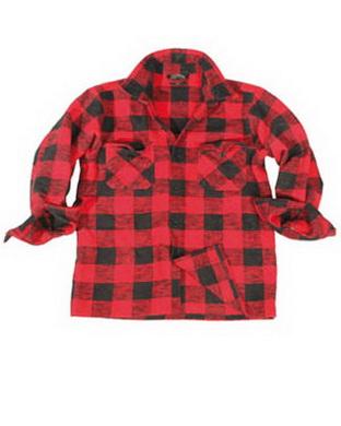 Košile døevorubecká èerveno èerná