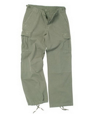 Kalhoty dámské US BDU R/S PREWASH OLIV
