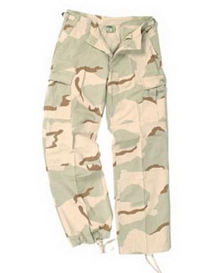 Kalhoty dámské US BDU R/S PREWASH 3col. DESERT