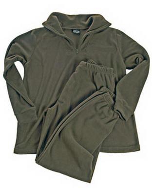 Spodní prádlo se zipem THERMOFLEECE - OLIV