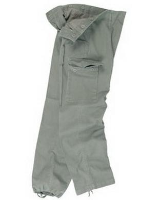 Kalhoty BW typ moleskin pøedeprané OLIV
