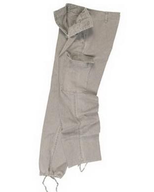 Kalhoty BW typ moleskin pøedeprané ŠEDÉ
