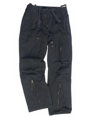 Kalhoty PILOT pøedeprané ÈERNÉ