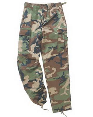 Kalhoty US BDU typ RANGER WOODLAND