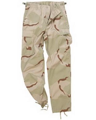 Kalhoty US BDU typ RANGER 3Col. DESERT