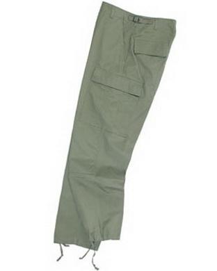 Kalhoty US BDU ripstop - oliv