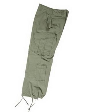 Kalhoty US typ ACU rip-stop ZELENÉ