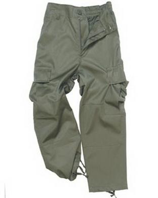 Kalhoty dìtské US BDU OLIV