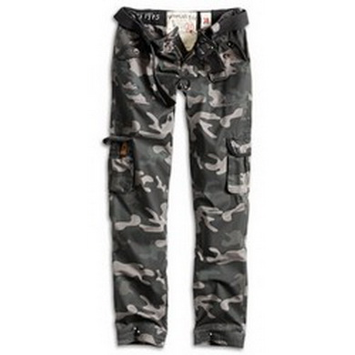 Kalhoty dámské PREMIUM SLIMMY BLACK CAMO