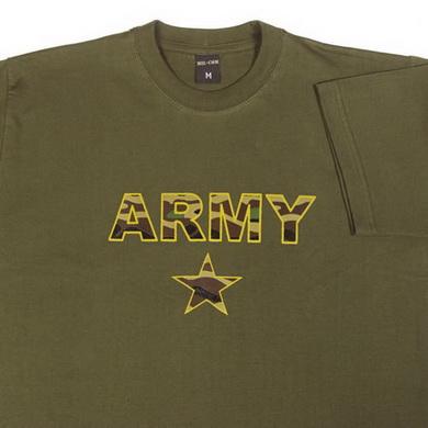 Triko krátký rukáv ARMY CAMO STAR ZELENÉ