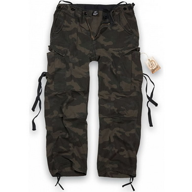 Kalhoty M65 vintage BLACK CAMO