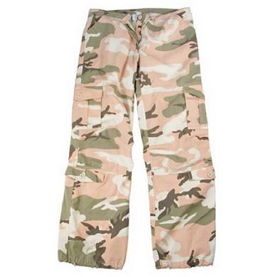 Kalhoty dámské VINTAGE PINK CAMO