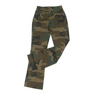 Kalhoty dámské STRETCH FLARE WOODLAND