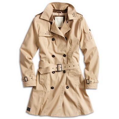 Kabát TRENCHCOAT dámský KHAKI