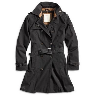 Kabát TRENCHCOAT dámský ÈERNÝ