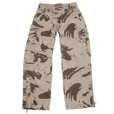 Kalhoty dámské US COMBAT seprané SAND CAMO