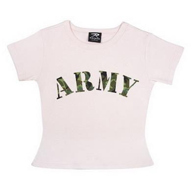 Triko dìtské dámské ARMY RÙŽOVÉ