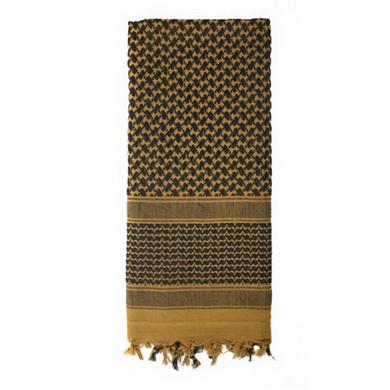 Šátek SHEMAG 105 x 105 cm HNÌDO-ÈERNÝ