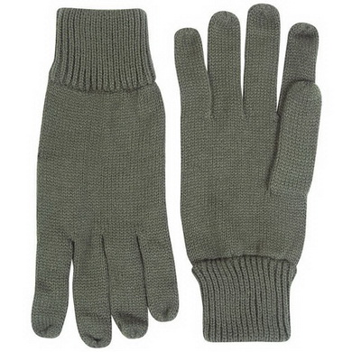 Rukavice prstové pletené ZELENÉ