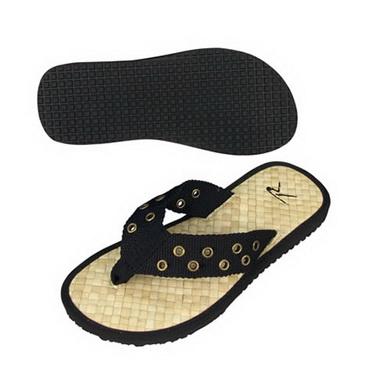 Sandále PISTOL BELT se slaměným chodidlem ČERNÉ cb76e61bdb0
