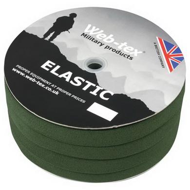 Popruh ELASTIC 25mm OLIV 1OOm