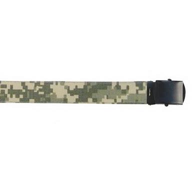 Opasek US kalhotový s èernou sponou ARMY DIGITAL CAMO dl.135 cm
