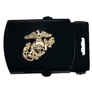 Pøezka na pásek s USMC symbolem ÈERNÁ