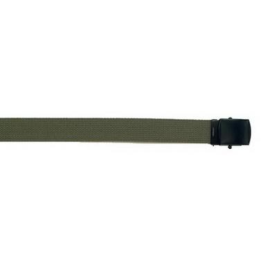 Opasek s èernou pøezkou 135 cm ZELENÝ