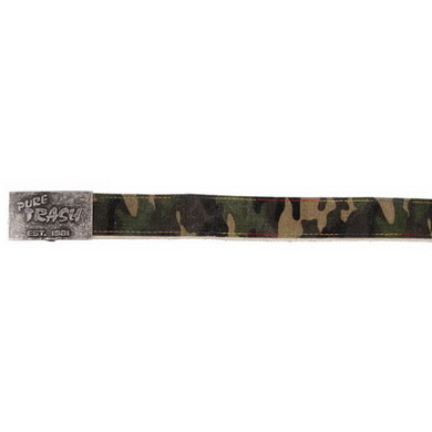 Opasek PURE TRASH 3,8 x 110 cm sepraný WOODLAND