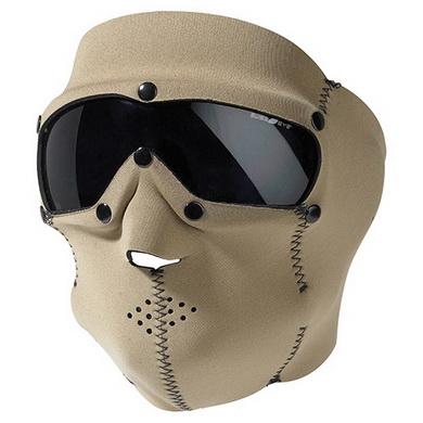 Maska s brýlemi SWAT PRO neopren KHAKI