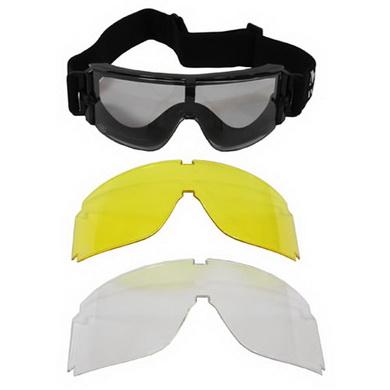 Brýle THUNDER taktické 2 vymìnitelná skla ÈERNÉ