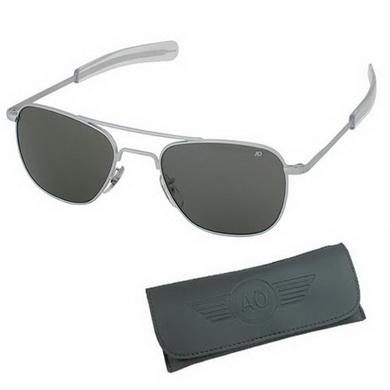 Brýle pilotní US AIR FORCE originál 52mm MATNÝ CHROM